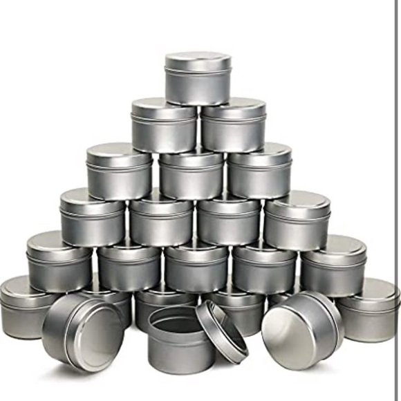 Coymos Candle Tin 24 Piece, 4 oz for Candle Making
